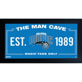 Orlando Magic Man Cave Sign 10x20 Framed Photo