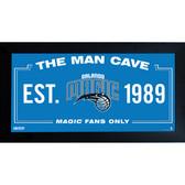 Orlando Magic Man Cave Sign 6x12 Framed Photo