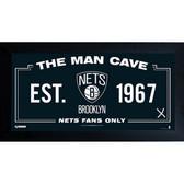 Brooklyn Nets Man Cave Sign 10x20 Framed Photo