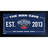 New Orleans Pelicans Man Cave Sign 6x12 Framed Photo