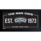San Antonio Spurs Man Cave Sign 6x12 Framed Photo