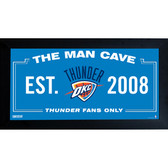 Oklahoma City Thunder Man Cave Sign 10x20 Framed Photo