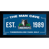 Minnesota Timberwolves Man Cave Sign 10x20 Framed Photo