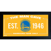Golden State Warriors Man Cave Sign 6x12 Framed Photo