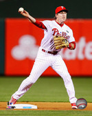 Philadelphia Phillies Chase Utley Action 40x50 Stretched Canvas