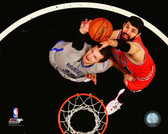 Chicago Bulls Nikola Mirotic  Action 32x40 Stretched Canvas