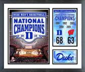 "Duke Blue Devils 2015 NCAA Men's College Basketball National Champions Milestones & Memories 11""x14"" Plaque"