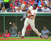 Cleveland Indians Michael Bourn 2013 Action 32x40 Stretched Canvas