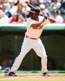 Cleveland Indians Michael Bourn 2014 Action 32x40 Stretched Canvas