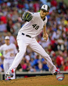 Chicago White Sox Chris Sale 2014 MLB All-Star Game Action 16x20 Stretched Canvas