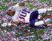 New England Patriots Duron Harmon Super Bowl XLIX Celebration 32x40 Stretched Canvas