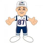 "New England Patriots 2015 Super Bowl Champions 10"" Plush Figure -Rob Gronkowski"