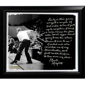 Ohio State Buckeyes Bob Knight Facsimile 'Chair-Throwing' Story Stretched Framed 22x26 Canvas