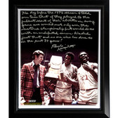 Ohio State Buckeyes Bob Knight Facsimile 'Undefeated Season' Story Stretched Framed 22x26 Canvas