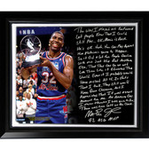Los Angeles Lakers Magic Johnson Facsimile 'First Game Back' Story Stretched Framed 22x26 Story Canvas