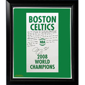 Boston Celtics Paul Pierce Facsimile '2008 Champions Banner' Story Stretched Framed 22x26 Story Canvas