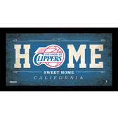 Los Angeles Clippers 6x12 Home Sweet Home Sign