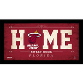 Miami Heat 6x12 Home Sweet Home Sign