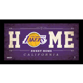 Los Angeles Lakers 6x12 Home Sweet Home Sign