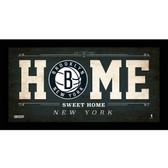 Brooklyn Nets 6x12 Home Sweet Home Sign