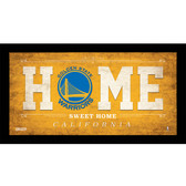 Golden State Warriors 6x12 Home Sweet Home Sign