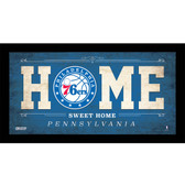 Philadelphia 76ers 6x12 Home Sweet Home Sign