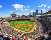 Minnesota Twins Target Field 2015 40x50 Stretched Canvas