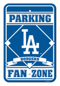 Los Angeles Dodgers 12x18 Plastic Fan Zone Sign