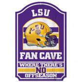 "LSU Tigers Wood Sign - 11""x17"" Fan Cave Design"