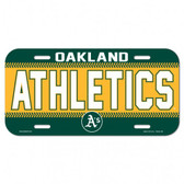 Oakland Athletics Plastic License Plate