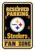 Pittsburgh Steelers 12x18 Plastic Fan Zone Sign