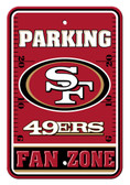 San Francisco 49ers 12x18 Plastic Fan Zone Sign