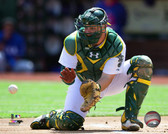 Oakland Athletics Stephen Vogt 16x 20 Stretched Canvas