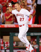 Los Angeles Angels Mike Trout 16x20 Stretched Canvas # 5