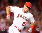Los Angeles Angels Mike Trout 16x20 Stretched Canvas # 4