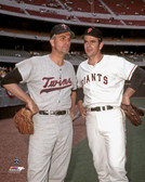 San Francisco Giants, Minnesota Twins Gaylord Perry, Jim Perry 40x50 Stretched Canvas