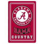 "Alabama Crimson Tide Metal Sign 12"" x 18"""