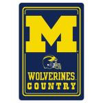 "Michigan Wolverines Metal Sign 12"" x 18"""