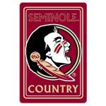 "Florida State Seminoles Metal Sign 12"" x 18"""