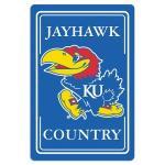 "Kansas Jayhawks Metal Sign 12"" x 18"""