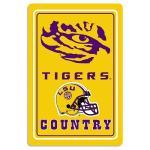 """LSU Tigers Metal Sign 12"""" x 18"""""""