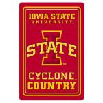 "Iowa State Cyclones Metal Sign 12"" x 18"""