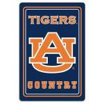 """Auburn Tigers Metal Sign 12"""" x 18"""""""