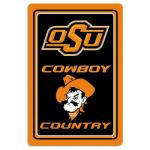 "Oklahoma State Cowboys Metal Sign 12"" x 18"""