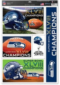 "Seattle Seahawks 11""x17"" Ultra Decal Sheet - Super Bowl 48 Champ"