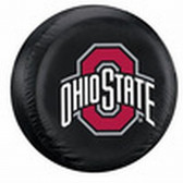 Ohio State Buckeyes Black Tire Cover - Large Size