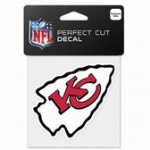 Kansas City Chiefs 4x4 Perfect Cut Color Decal - Single