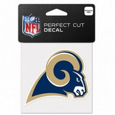 St. Louis Rams 4x4 Perfect Cut Color Decal - Single