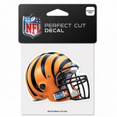 Cincinnati Bengals 4x4 Perfect Cut Color Decal - Helmet