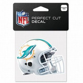 Miami Dolphins 4x4 Perfect Cut Color Decal - Helmet